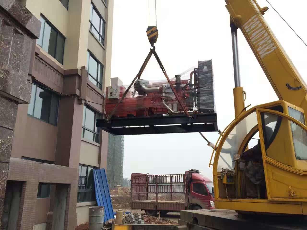 岳阳华容明珠中利城购置明邦400KW沃尔沃发电机一台
