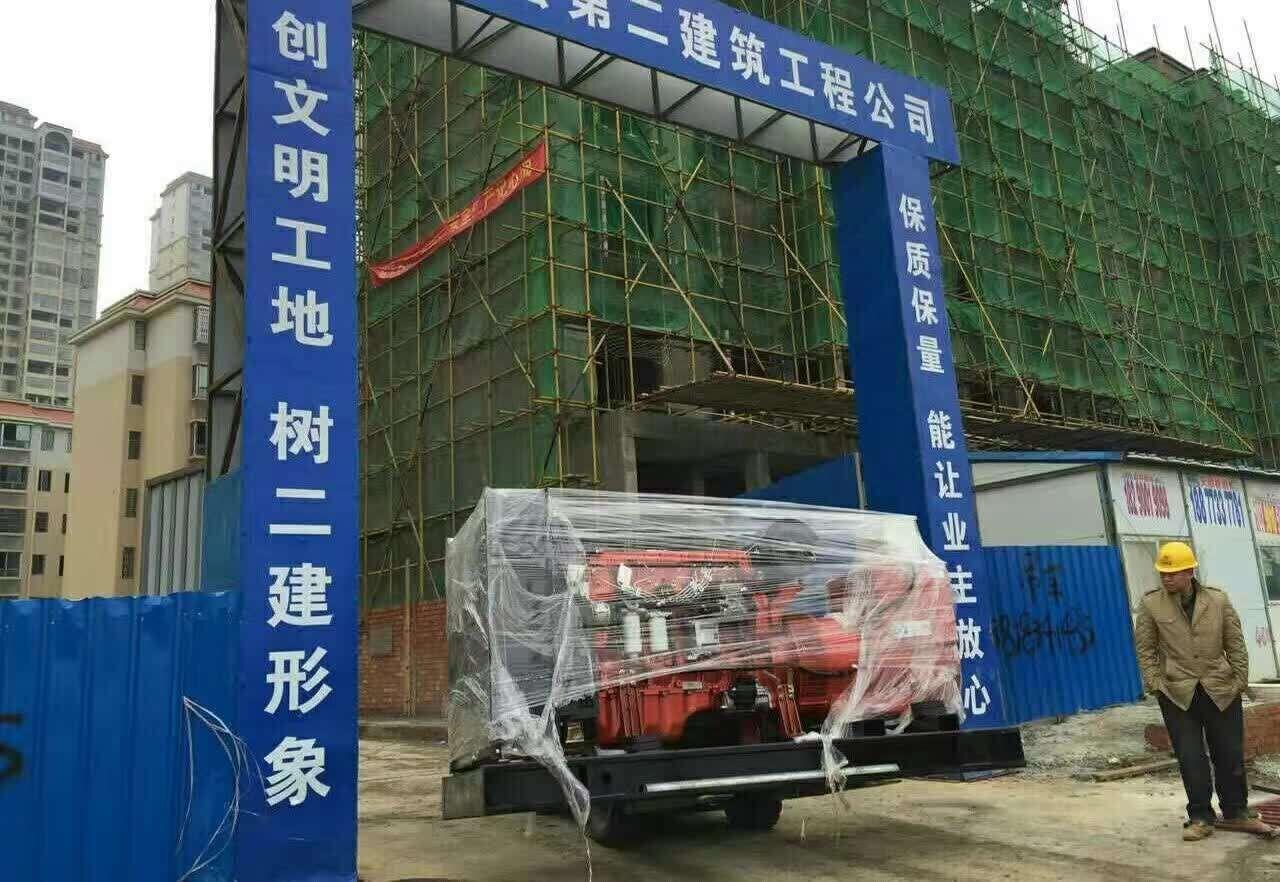 广西全州工程公司安装明邦400kw玉柴柴油发电机一台