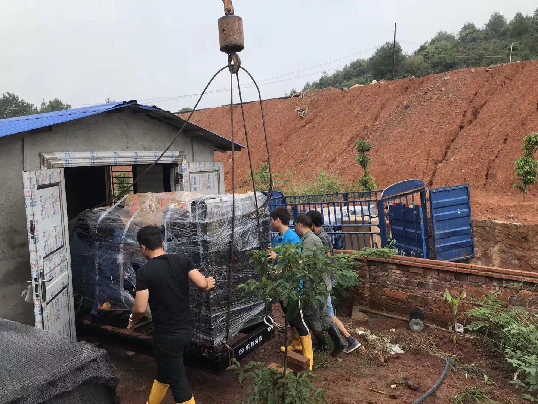 湖南郴州市嘉禾县某养殖场购买两台明邦200千瓦柴油发电机组