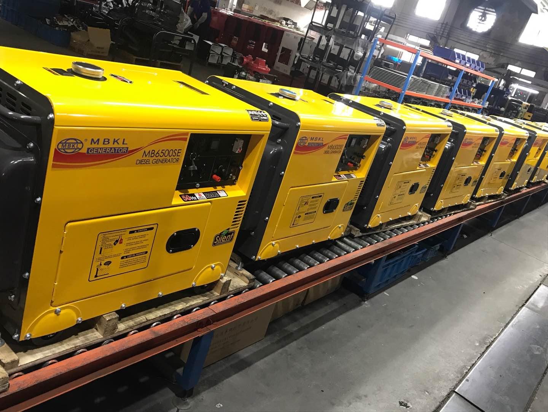 明邦7台小型柴油发电机出口非洲!