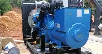 益阳砂石厂在明邦购买的500KW发电机组顺利调试完成!