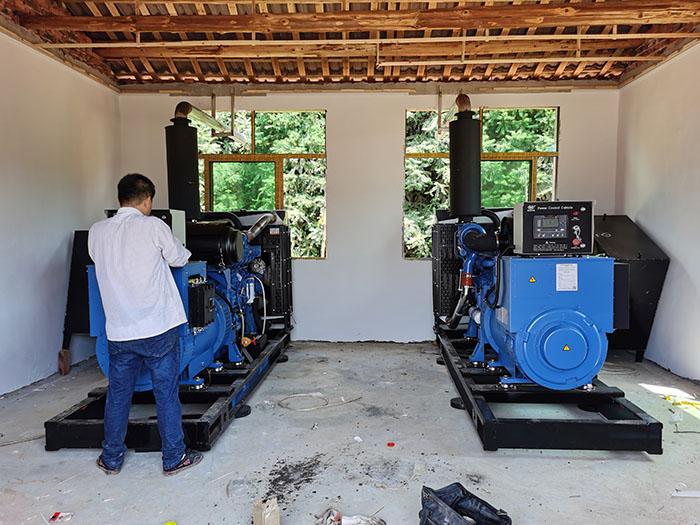 明邦为衡阳天心养殖厂提供2台300kw玉柴发电机