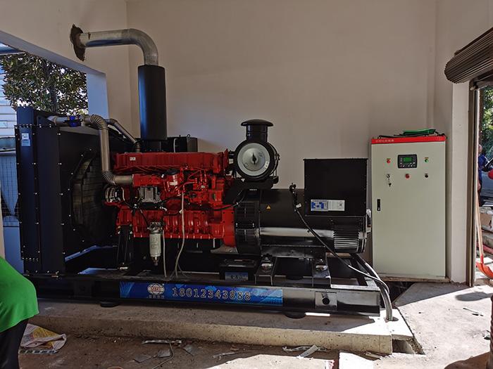 长沙400kw汉马动力发电机在望城二中顺利安装完成!