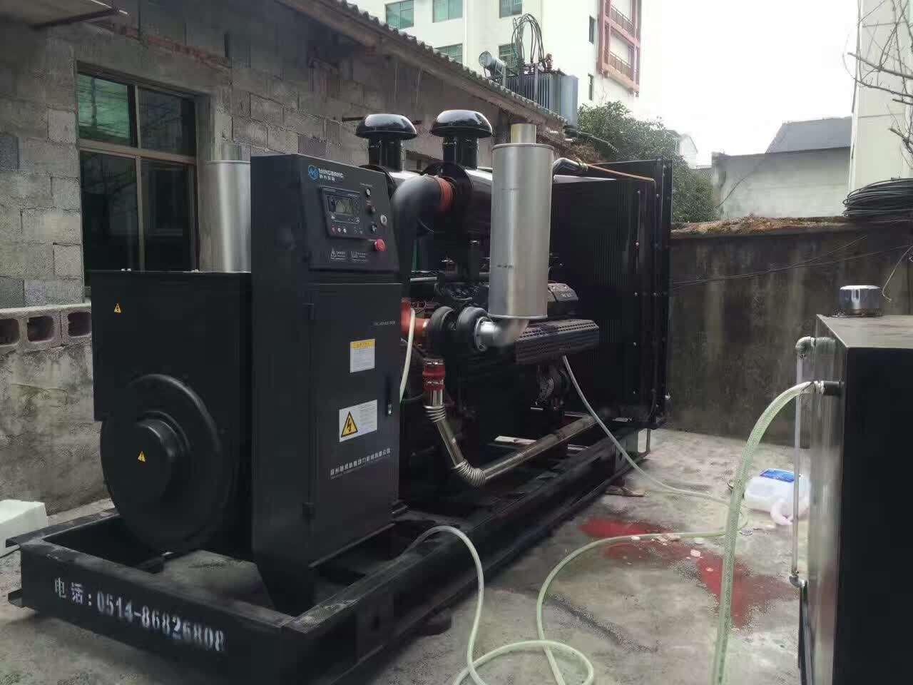 明邦500kw上柴发电机组在常德正一酒店顺利安装!